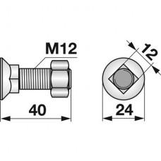 VIJAK LEMEŽA M12x40, 10.9