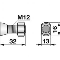 VIJAK LEMEŽA M12x34, 12.9, OVALNI