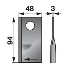 NOŽ KOSILNICE MORTL T67 D+L,  FI=23