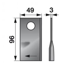 NOŽ KOSILNICE FAHR 96mm L+D