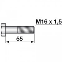VIJAK + MATICA M16x1,5x55  ZA NOŽ BRANE