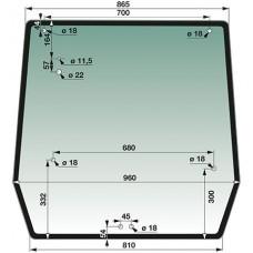 STEKLO KABINE ZADAJ NH TD60-90D CASE JX