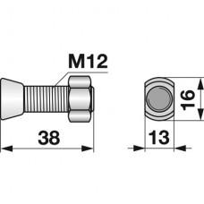 VIJAK LEMEŽA M12x38 12.9 KUHN KVERNELAND