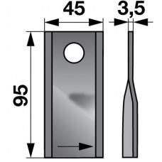 NOŽ KOSILNICE KUHN 96x45x3,5 L+D