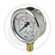 "MANOMETER FI 63 1/4"" 400BAR ZA OLJE"