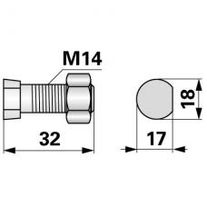 VIJAK LEMEŽA M14x32, 12.9, KVERNELAND