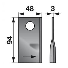 NOŽ KOSILNICE FAHR KM L-94mm L+D