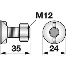 VIJAK LEMEŽA M12x35 2 ROBA, trdota 8.8