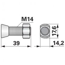 VIJAK LEMEŽA M14x39 12.9 OVALNI V&N