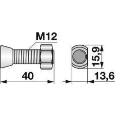 VIJAK LEMEŽA M12x40 12.9 ZA ŠPICO