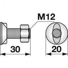 VIJAK LEMEŽA M12x30 8.8, 2-ROBA