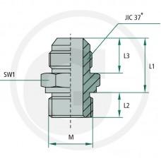 REDUCIR GA 9/16M-JIC x M14 MET