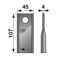 NOŽ KOSILNICE KUHN FI=18,2mm, L+D