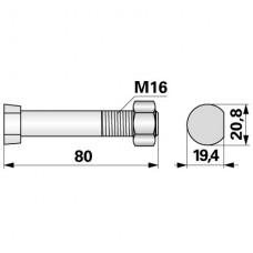 VIJAK PLUGA OVALNI M16x80 KVERNELAND