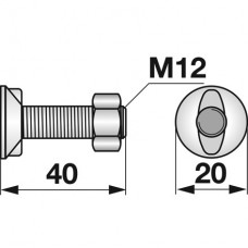 VIJAK LEMEŽA M12x40 8.8 2-ROBA KUHN