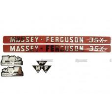 NALEPKE MASSEY FERGUSON 35X - KOMPLET