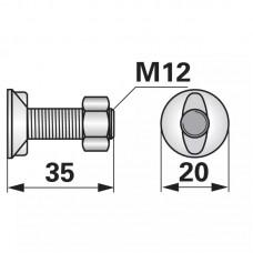 VIJAK PLUGA M12x35 KUHN-HUARD