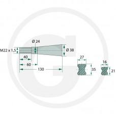 ŠPICA ZA OSO L=950 M22x1,5 SCHAFFER