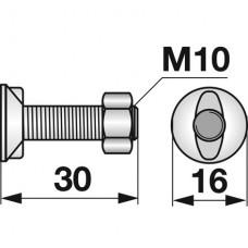 VIJAK PLUŽNI M10x30 2-ROBI HUARD
