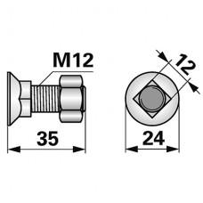 VIJAK M12x33 12.9 LEMKEN PLUG