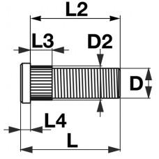 VIJAK KOLESNI M16x1,5x52
